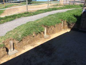 Fundamente Stützmauer